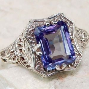 Jewelry - 2CT Color Changing Alexandrite 925 Silver Ring